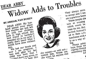 Shelter from the Storm: Remember Ann Landers?