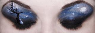 maquilla de ojos con paisaje- body paint