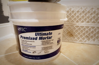 premixed tile mortar bucket