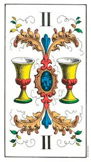 Imagen de la carta del tarot dos de copas