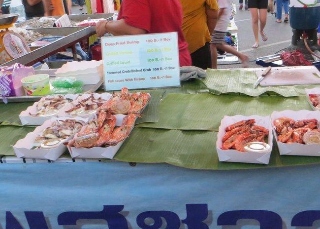 Тайские приготовленные креветки