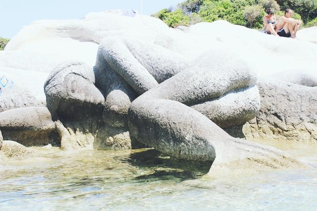 Mermaid in rocks Portokali beach