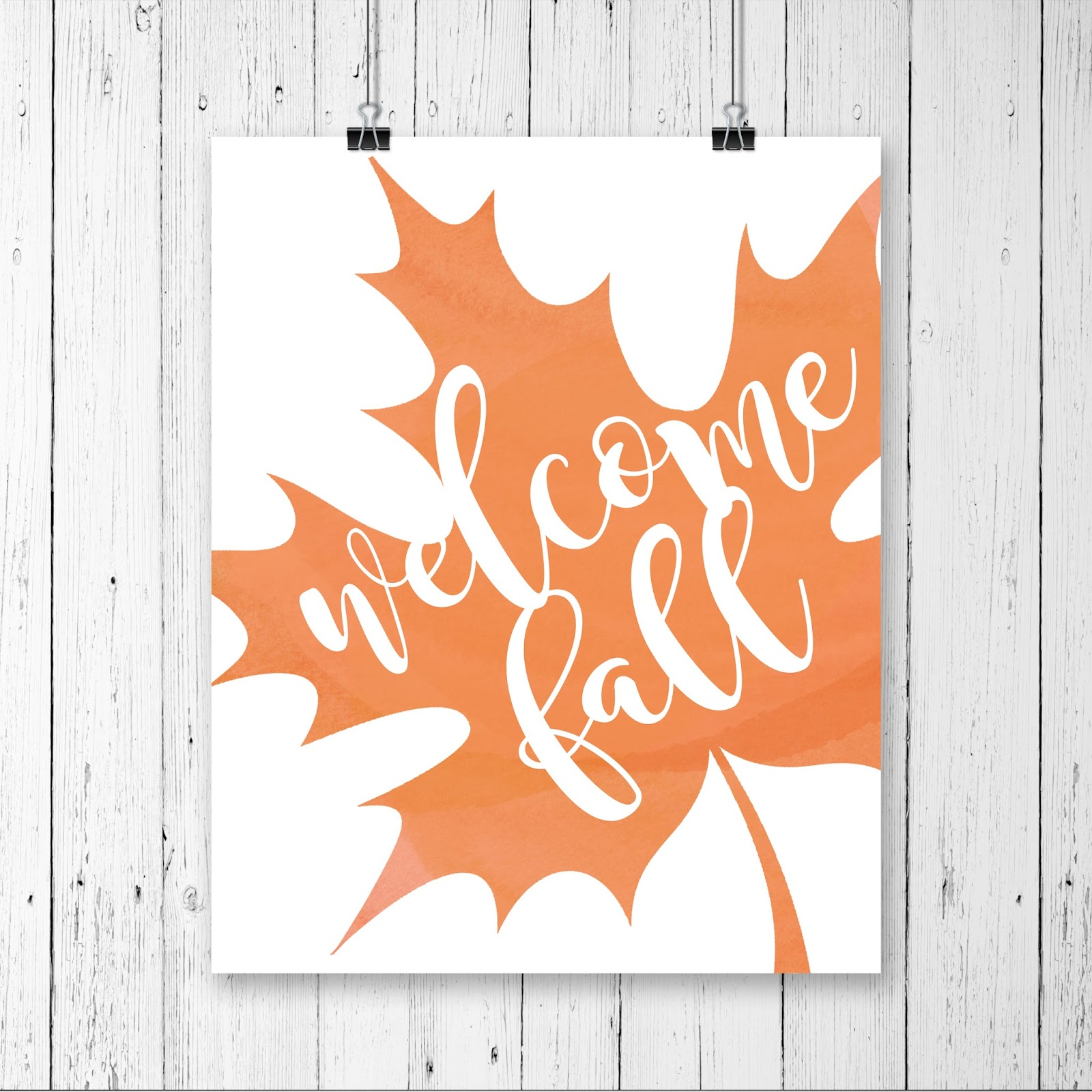 Welcome Fall | free printable - Lolly Jane