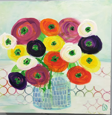 Kim Doughtery | Cheerful Bunch | 20x20 |