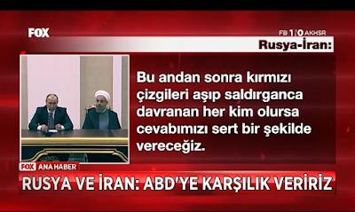 ikinci müdahele sinyaline Rusya ve İran'dan Karşılık veririz tehdidi