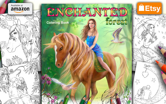 * Coloring book Enchanted Forest