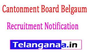 Cantonment Board Belgaum Recruitment Notification 2017