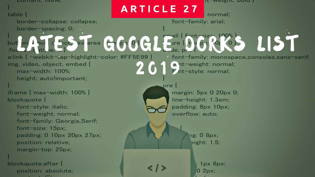 Latest Google Dorks List 2019 [Google Hacking Secret]