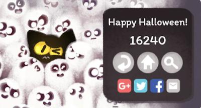 Google Doodles, Google Doodle game, online game, free online game, Halloween online game, free online game, free Halloween online game, Halloween, Happy Halloween