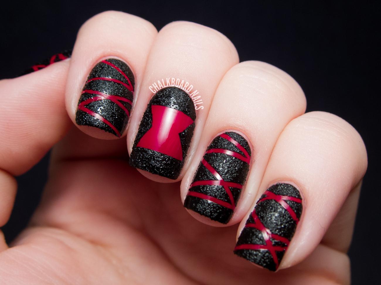 TUTORIAL: Black Widow Spider Textured Nail Art