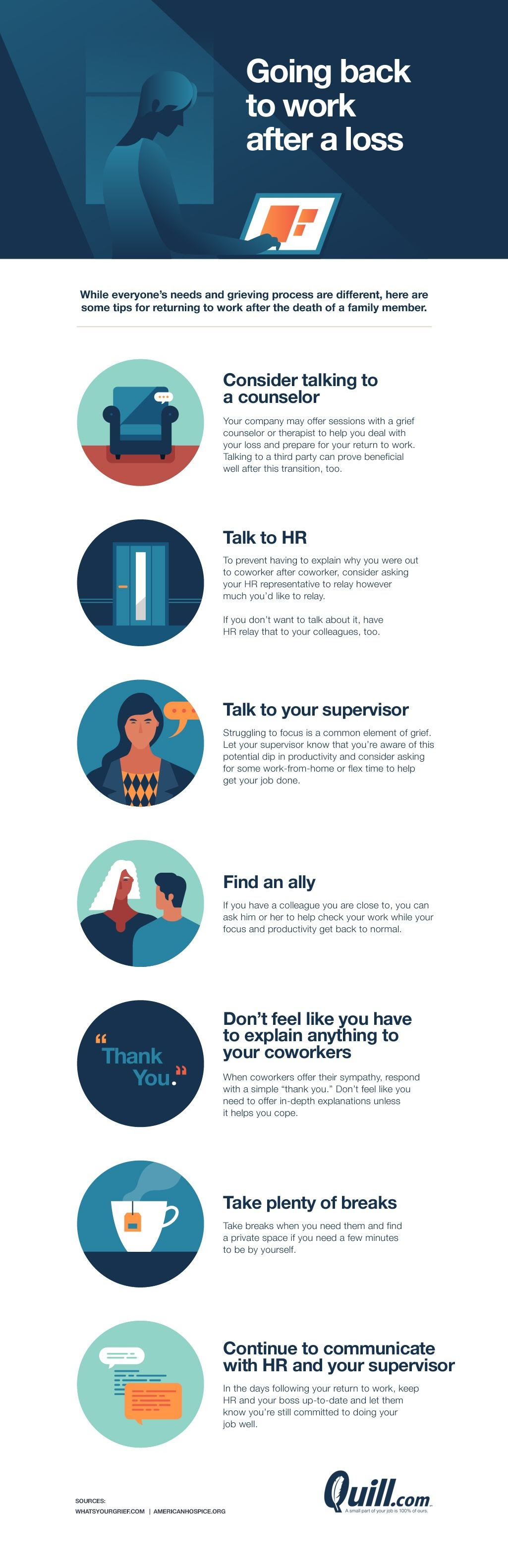 What to do at work when you're going through something at home #infographic