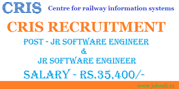 CRIS Recruitment 2017 Jr Network and Jr Software Engineer Jobs – Jr Network Engineer Jobs