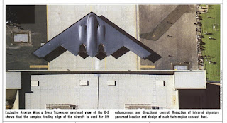 Overhead shot of B-2 rollout