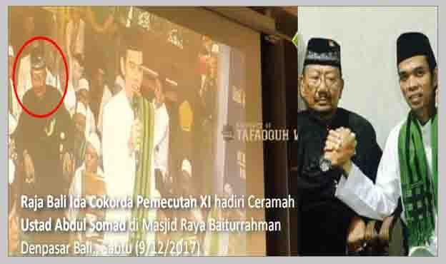Ternyata Yang Menolak Itu Provokator, Lihat Nih Sambutan Hangat Raja Bali di Ceramah Ust Somad