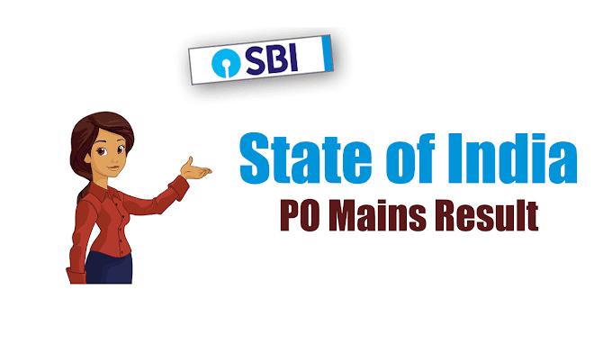 SBI PO 2018 Mains Result Declared