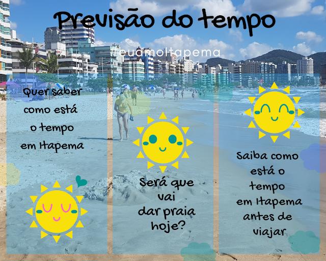 Previsão do tempo para Itapema
