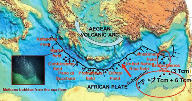 Υδρίτες μεθανίου στην ελληνική υφαλοκρηπίδα