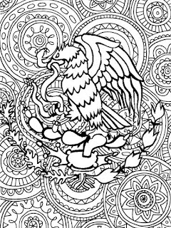 Mexican art mandala coloring pages - Mexico mandalas