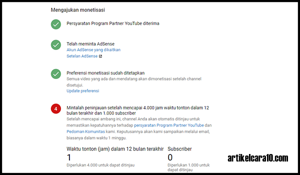 syarat monetisasi chanel youtube
