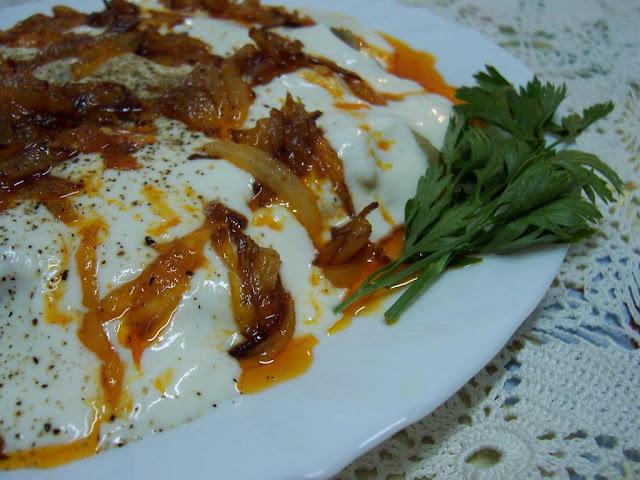 Yoğurtlu patlıcan - biber közlemesi