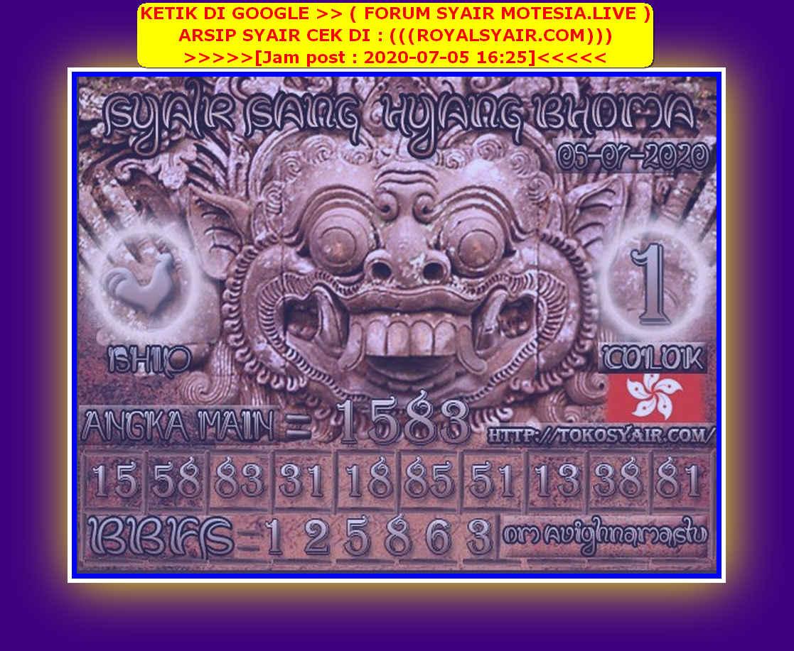 Kode syair Hongkong Minggu 5 Juli 2020 159
