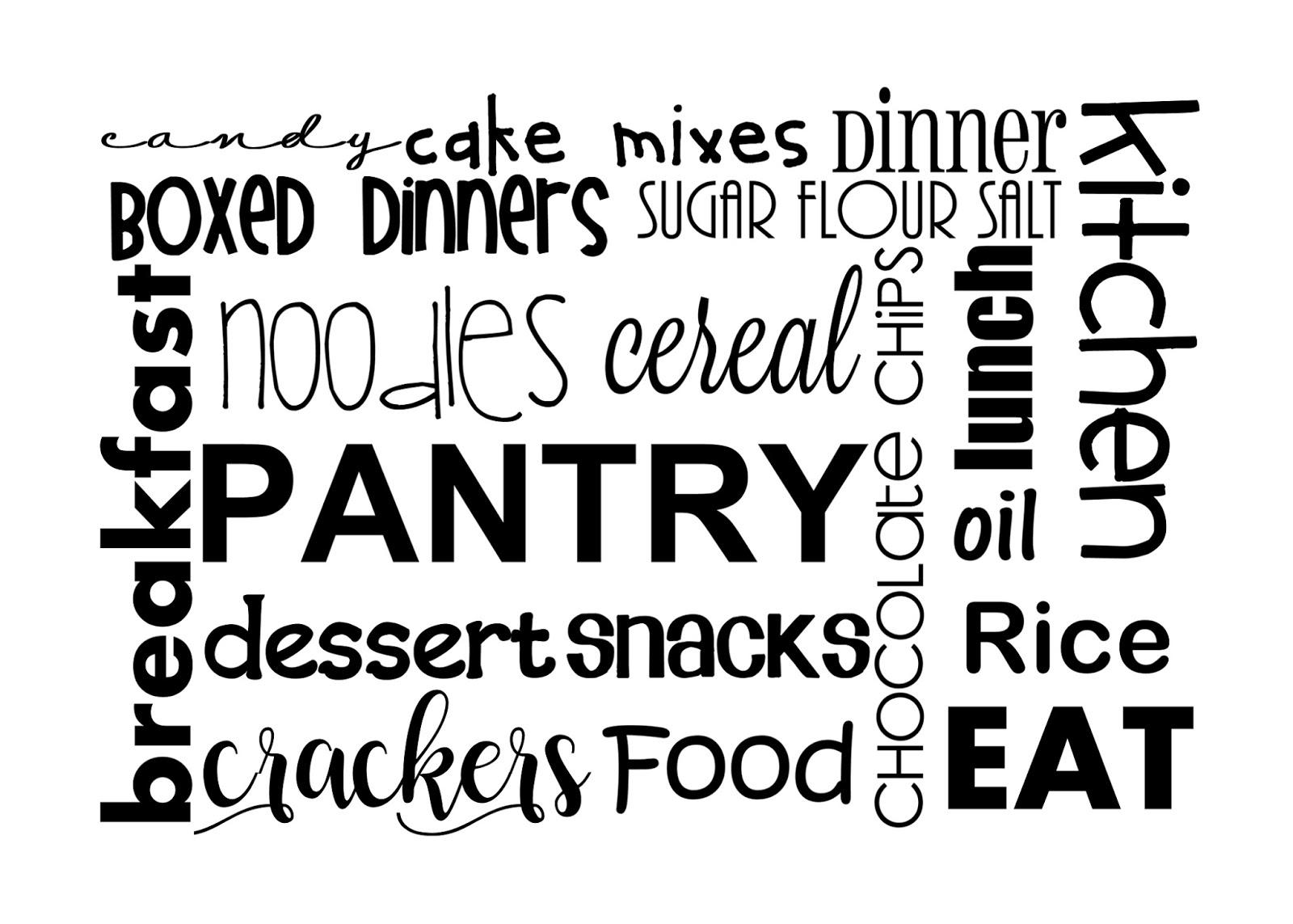 Diy Kitchen Pantry Sign With Subway Art Printable