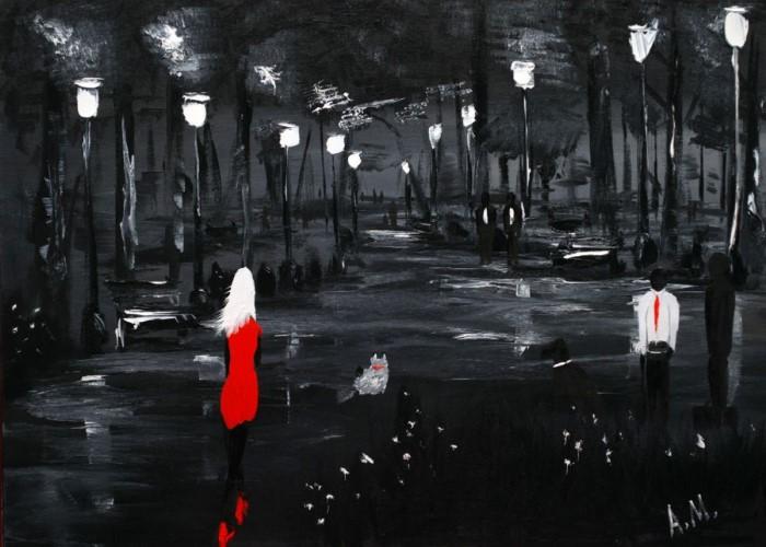 Белым, черным и красным. Anto Monti
