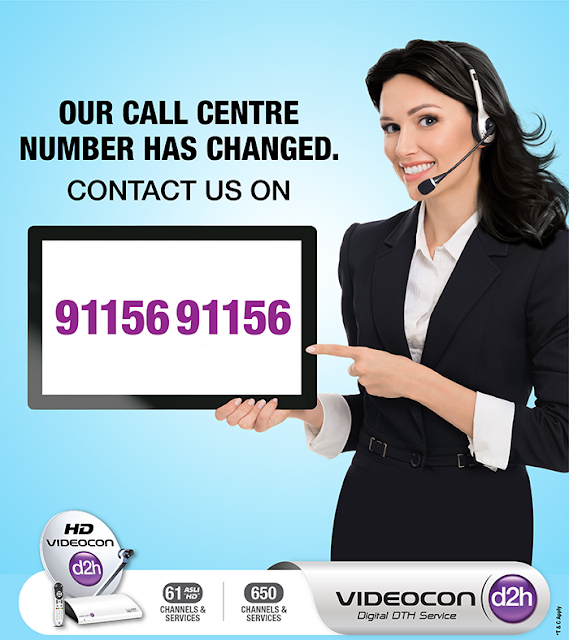 Videocon D2H Customer care number has changed