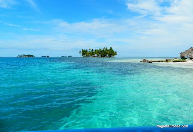 Ilhota no arquipélago de San Blas, Panamá, também conhecido como Kuna Yala