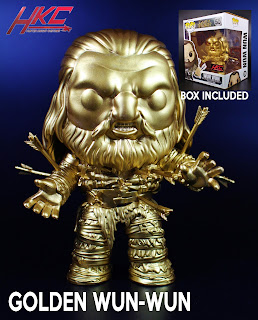 Custom golden Wun-Wun Funko POP! figure from Game of Thrones by Hunter Knight Customs