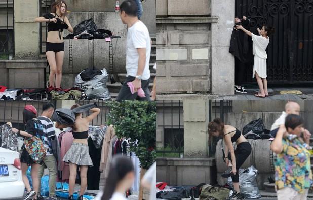 Foto Bugil Artis sexy Heboh Keliatan Toketnya Saat Ganti Baju Di Trotoar