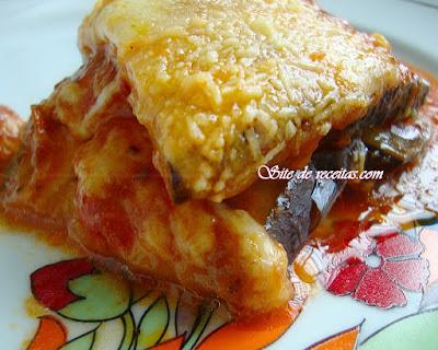 Lasanha de berinjela aos 3 queijos
