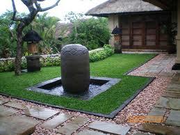kolam air mancur taman depan rumah