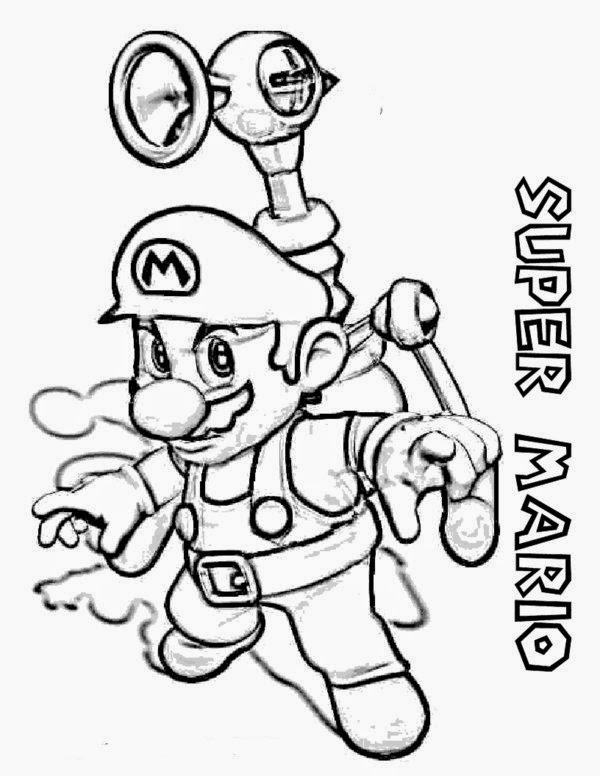 Online Coloring Super Mario Bros Coloring Pages For Kids ...