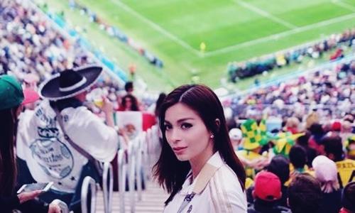 Biodata Sandra Olga Si Presenter Bola di Piala Dunia 2018 Mirip Franda