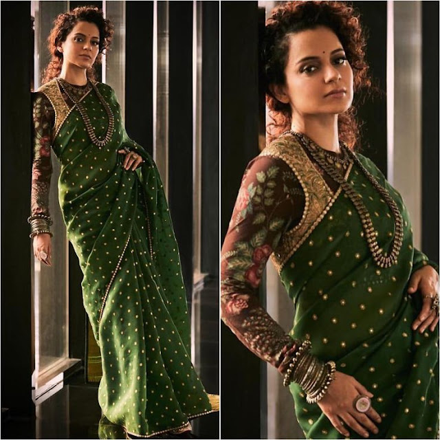 Sarees with over-coat full sleeves Blouse