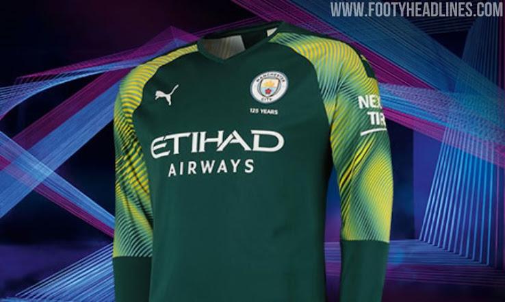 brand new 6310d 8867f Manchester City 19-20 Goalkeeper Home, Away & Third Kits ...