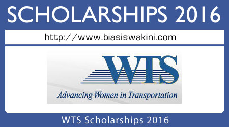 WTS Scholarships 2016