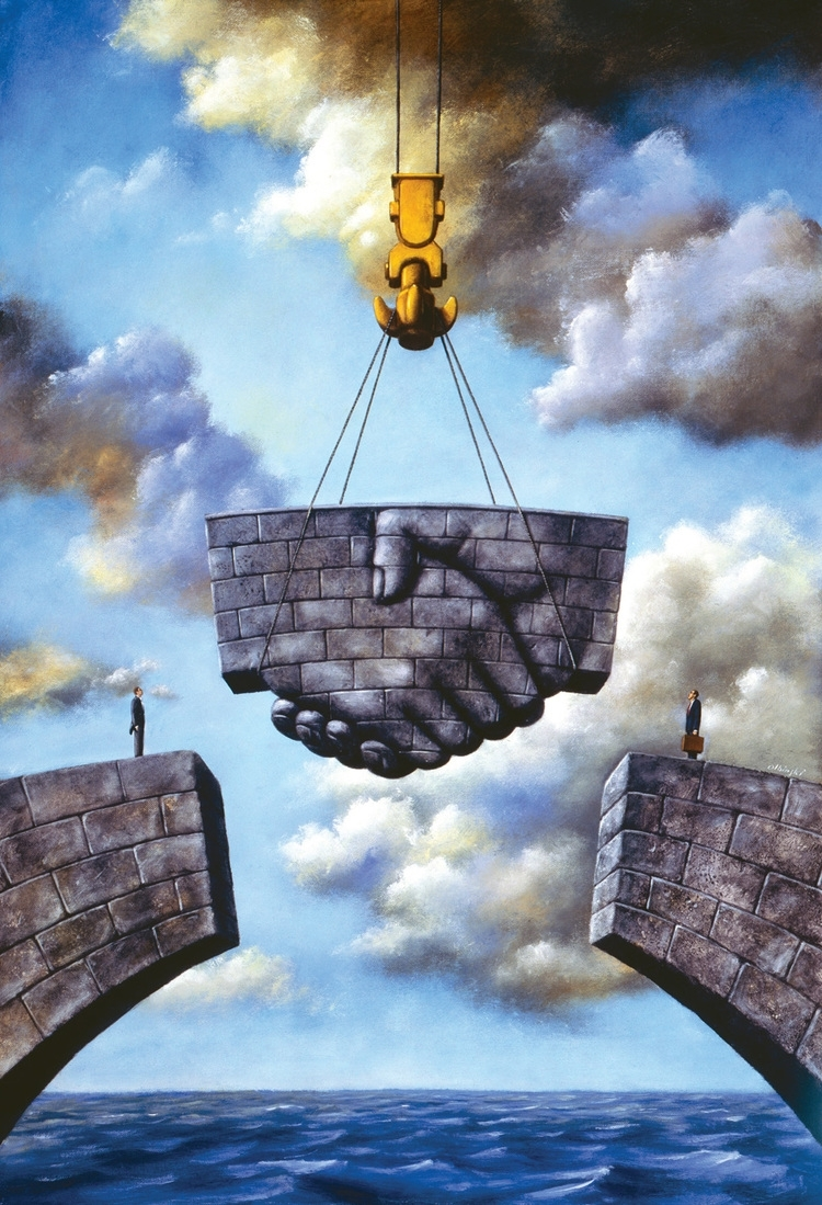 10-Meeting-in-the-Middle-Rafal-Olbinski-Surreal-Paintings-that-Whisper-a-Message-www-designstack-co