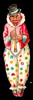 circus clown vintage clipart digital download image norwegian