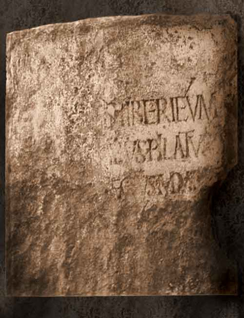 Pontius Pilate inscription.
