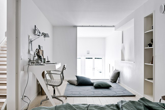 Scandinavian loft living room