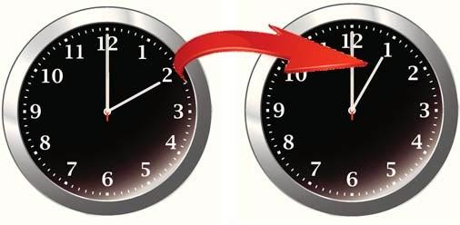 CSPC: Dayilght Savings Time Ends- change clocks back 1 hour