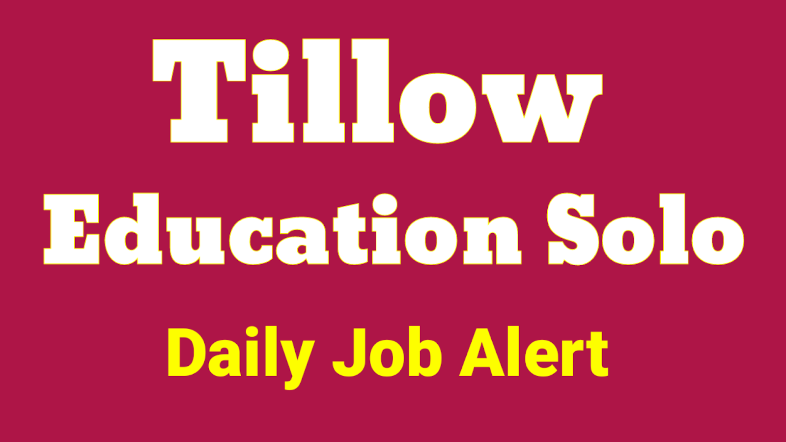 Tillow Education