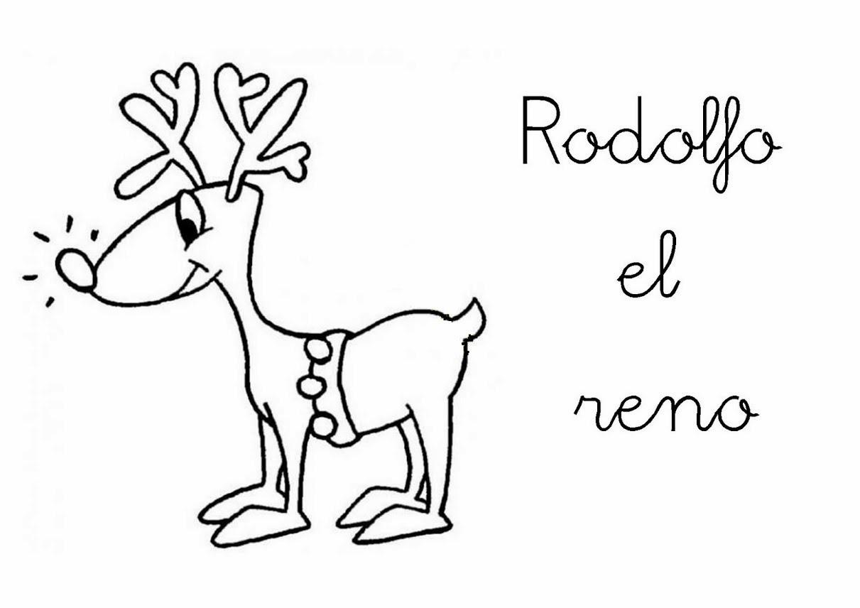 Colorear Rodolfo El Reno | Bernadettes