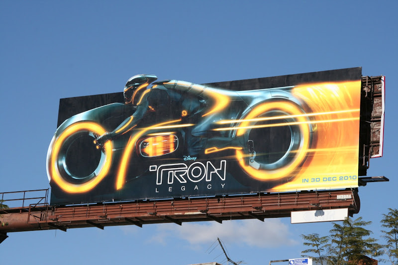 Tron Legacy Lightcycle billboard