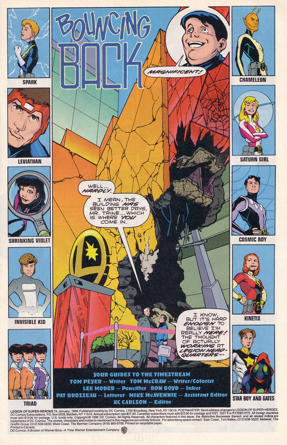 Legion of Super-Heroes (1989) 76 Page 1