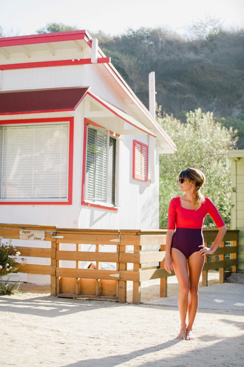 Crystal cove vintage summers in the wild california shore seea the zuma surf suit in burgundy photo by gabe sullivan nvjuhfo Image collections