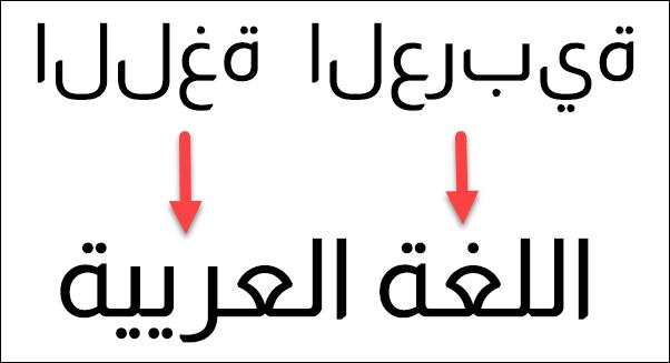 حل مشكلة الكتابة بالعربي في الفوتوشوب