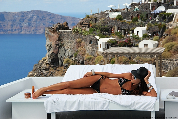 black bikini looks for Santorini and Mykonos